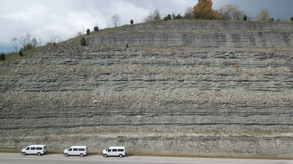 Outcrop at Maysville, KY